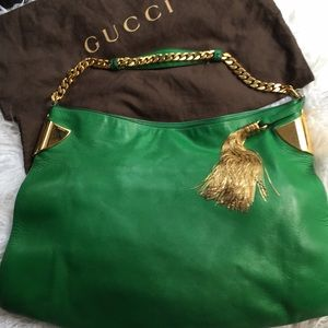 "Gucci Gorgeous Green ""1970"" Modern Large Bag💚💛💚"
